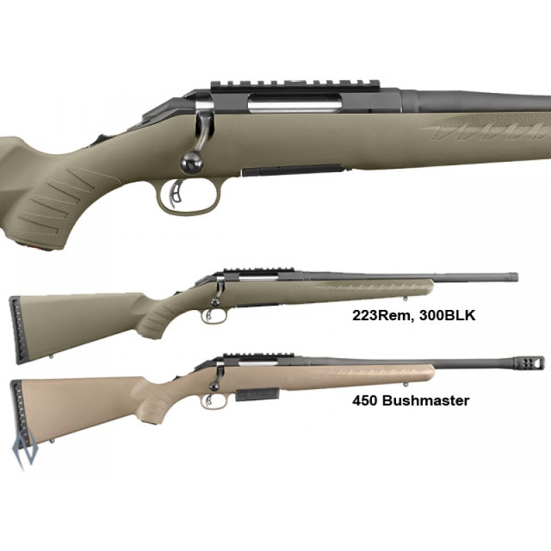 252fa4f467b21 Ruger American Rifle Ranch 450 Bushmaster Blued 16